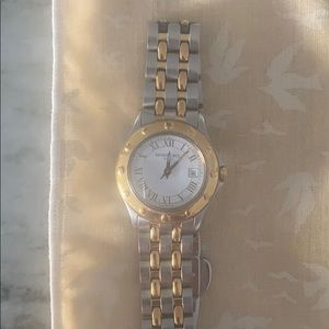 Raymond Weil silver and gold watch